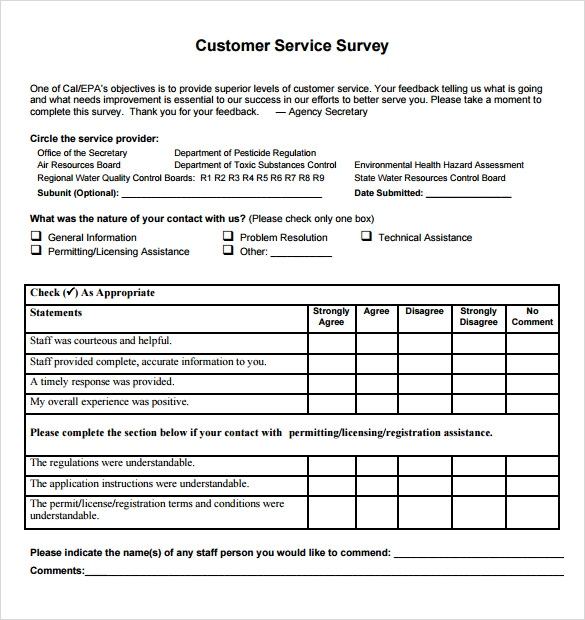 internal customer satisfaction survey