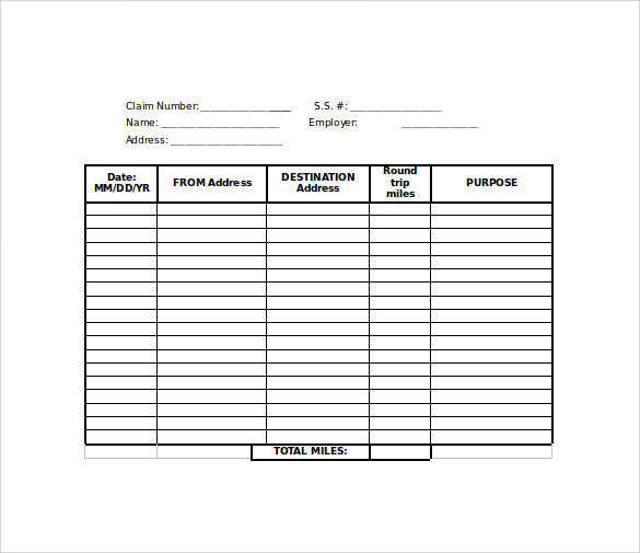 FREE 8+ Sample Mileage Reimbursement Forms in PDF | MS Word