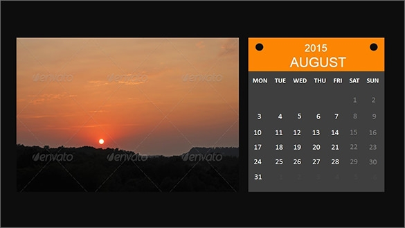 Sample Powerpoint Calendar Template