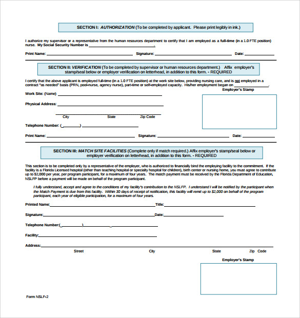 Sample Students Loan Application Form 7 Download Free Documents – Students Loan Application Form