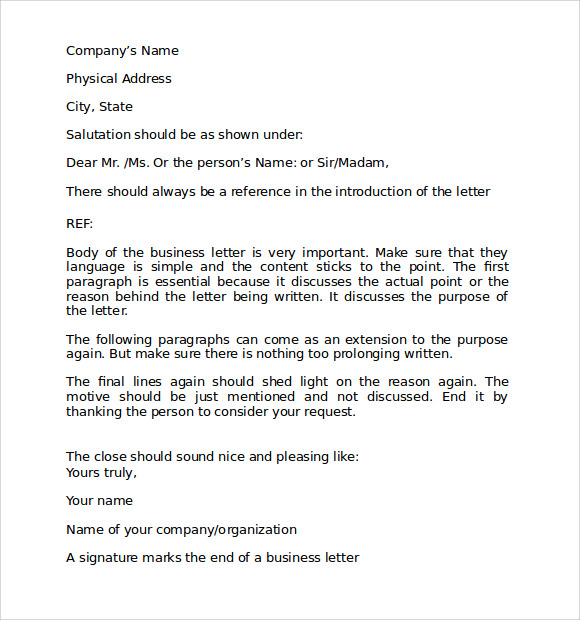 business letter template format1