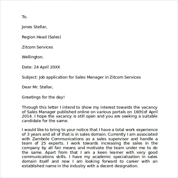 Sample Business Letter Format   Free Documents Download In Pdf Word