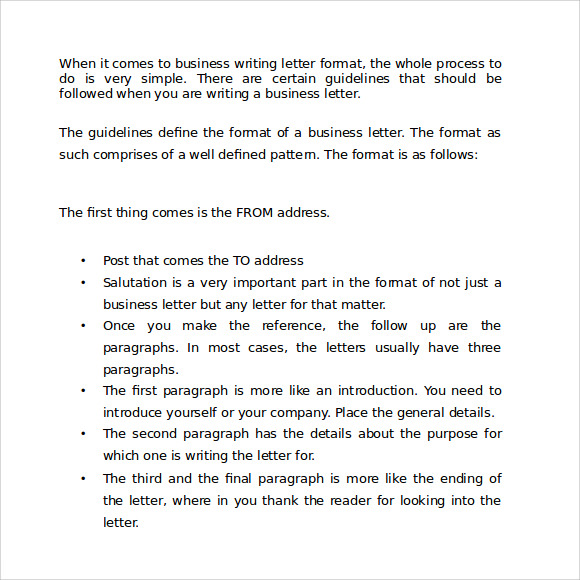 how to write letters how to format a business letter in word example of how 2611