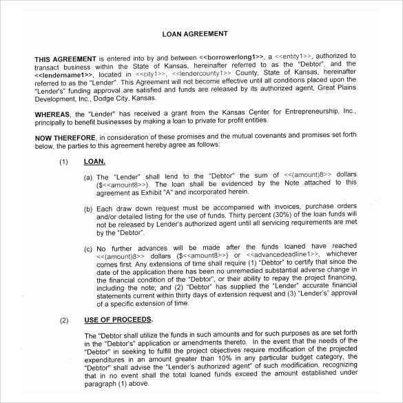 Doc468605 Basic Loan Agreement 5 Loan Agreement Templates to – Free Personal Loan Agreement Form
