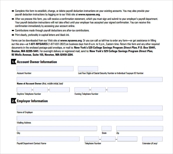 Payroll Deduction Form Template Datariouruguay