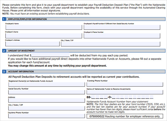 pdf payroll deduction form