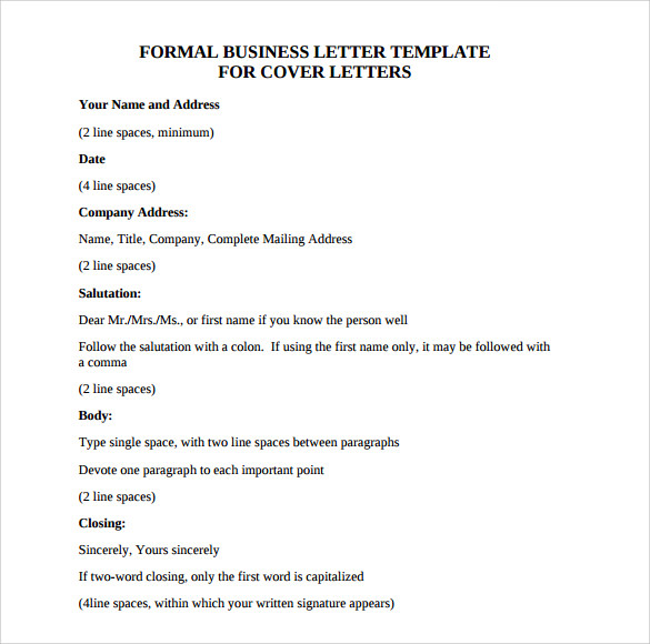 Sample Official Business Letter Format   Download Free