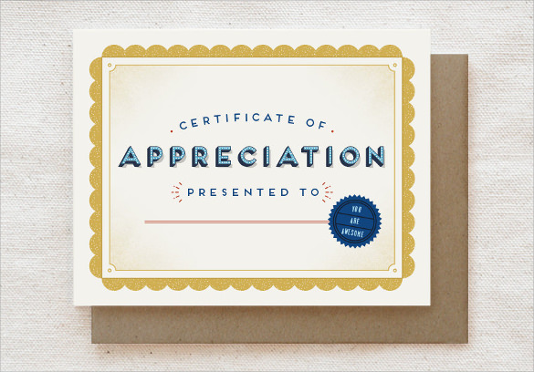 11 Thank You Certificate Templates Sample Templates