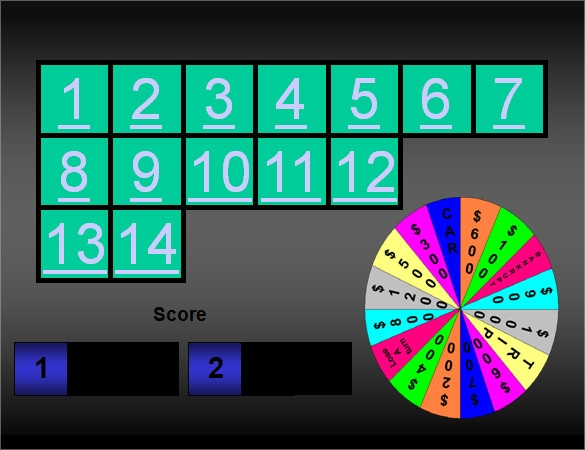 10 power point game templates sample templates for Wheel of fortune game template for powerpoint