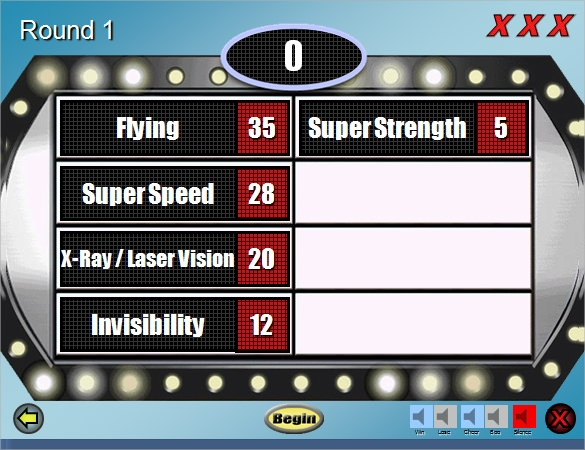 Family Feud Power Point Templates  Free Sample Example Format