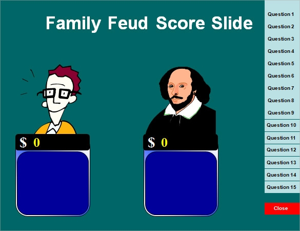 5 family feud power point templates � free sample