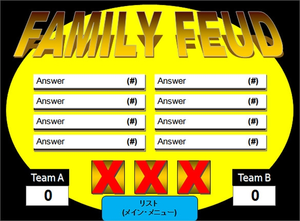 free family feud powerpoint template