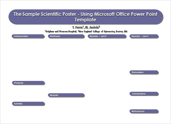 Power Point Poster Template Sample  Microsoft Poster Template
