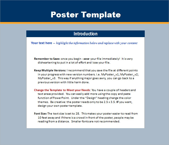 aep templates free download 5 power point poster templates sample templates