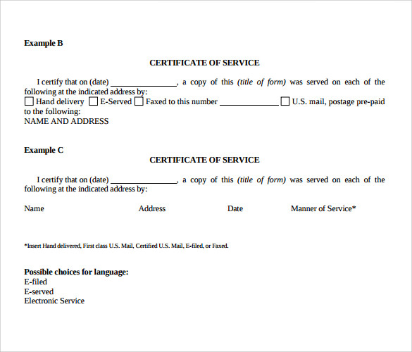 Certificate of Service Template - 8+ Download Free Documents in PDF ...