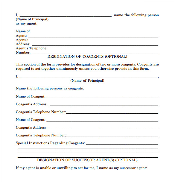 Sample Limited Power Of Attorney Forms   Free Documents In Pdf Word