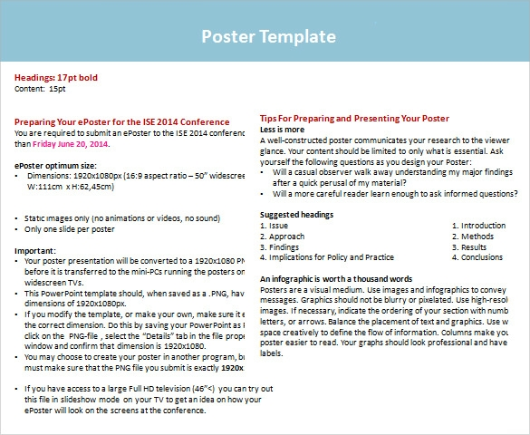 free power point poster template