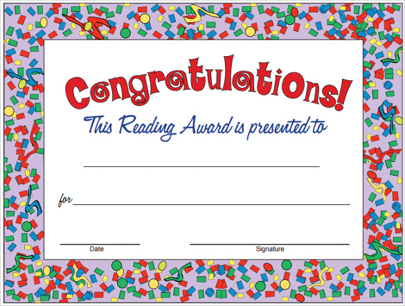 Sample Congratulations Certificate   Documents In Pdf Word Psd