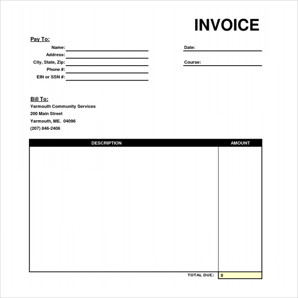 Professional Invoice Templates 6 Download Free Documents