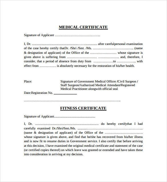 15 Medical Certificate Download For Free Sample Templates