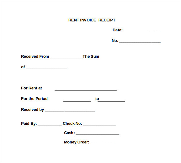 Rent Invoice Templates