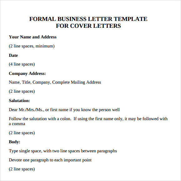 Business Letter Format Sample - 8+ Download Free Documents ...