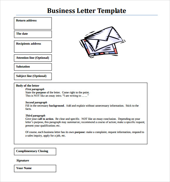 business letter template pdf 9 business letter format samples sample templates 8311