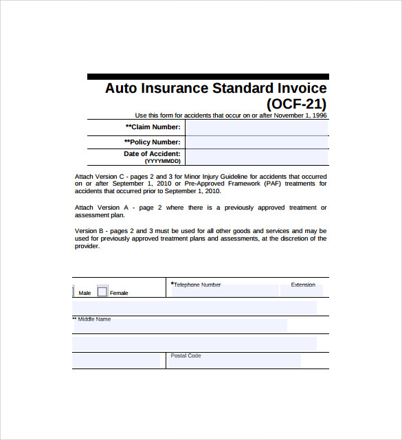 simple standard invoice