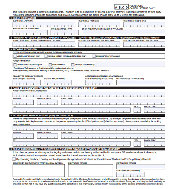Beautiful Sample Bsa Medical Form Ideas  Resume Ideas  BayaarInfo