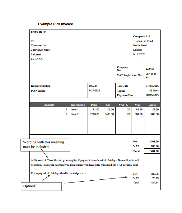 Downloadable Simple Invoice Template  Invoice Template Pdf Free Download