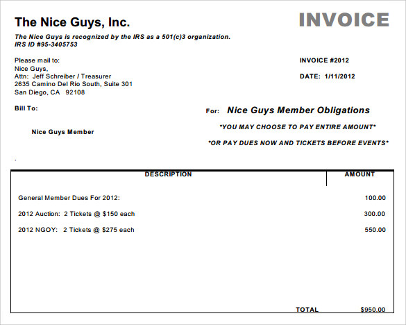 example simple invoice – neverage, Invoice examples