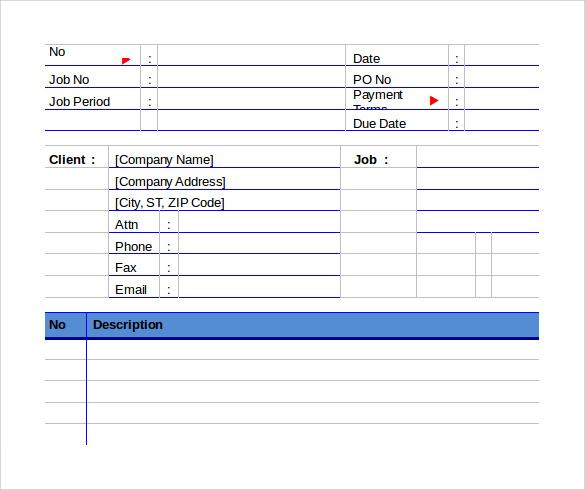 example of graphic design invoice