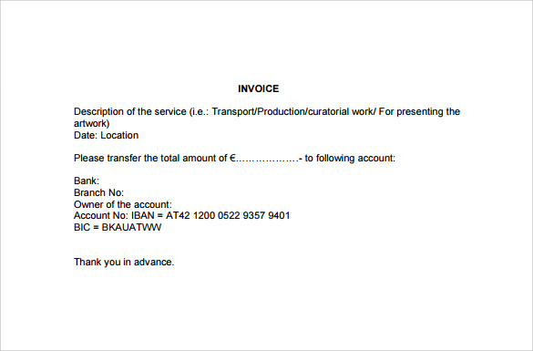 simple invoice template pdf to download
