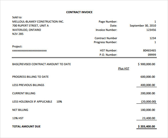Sample General Invoice Template 9 Download Free Documents in PDF – General Invoice Template