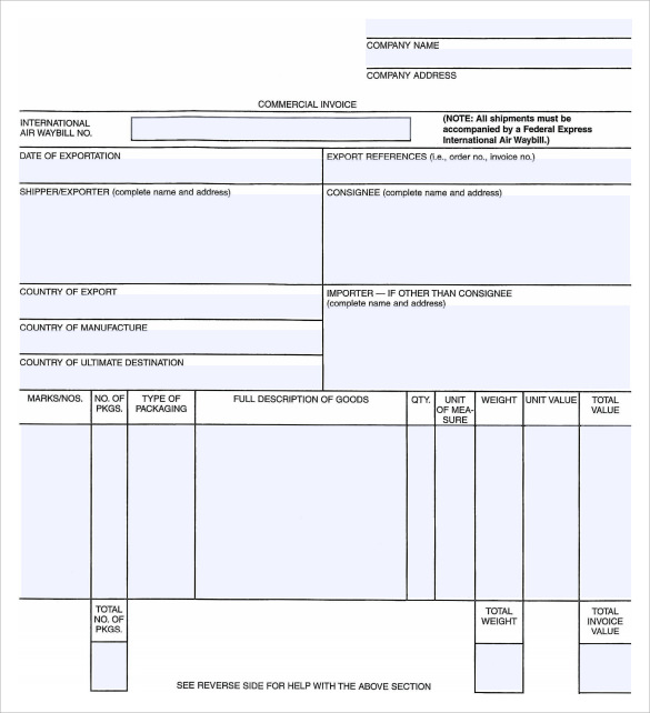 general invoice template example