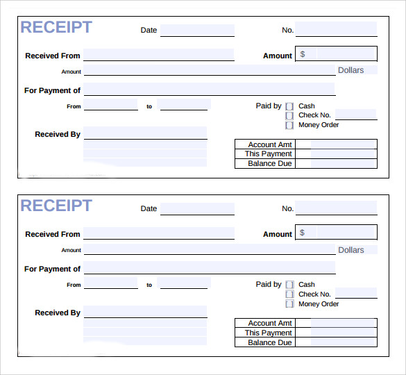 Sample Invoice Receipt Template 9 Download Free Documents In Pdf