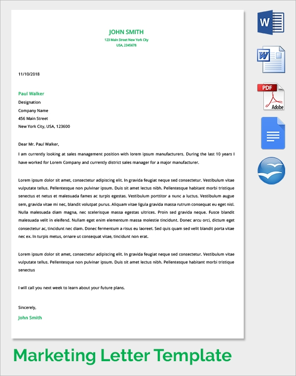 Marketing Cover Letter    Samples  Examples  Format