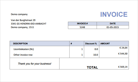 sample indesign invoice template