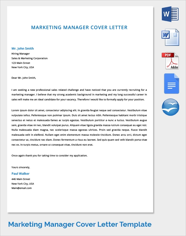 15 marketing cover letters marketing manager cover letters