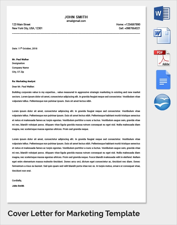 sales and marketing cover letter marketing cover letter examples