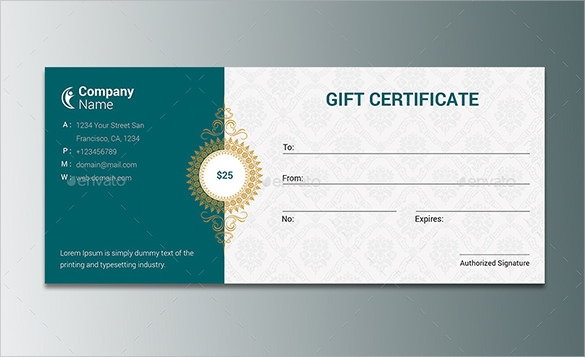 Business Gift Certificate Template – Business Gift Certificate Template Free