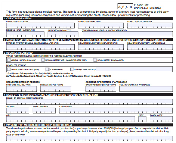 sample medical records release form 9 download free documents in pdf