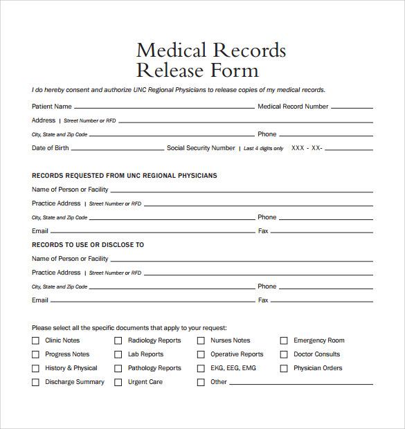 General Medical Records Release Form Des Photos Des Photos De Fond – Medical Record Release Form Template