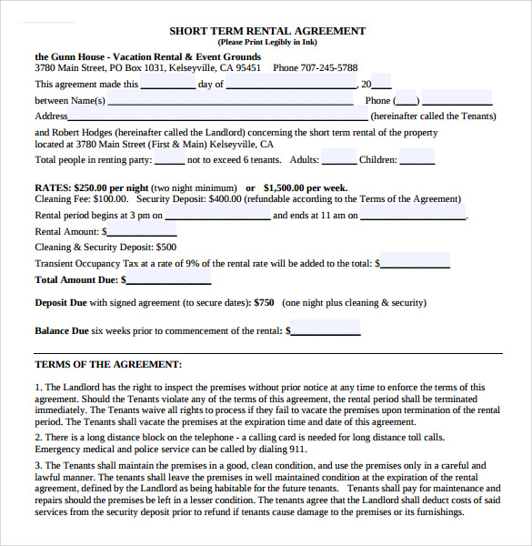 home rental agreement 8 download free documents in pdf