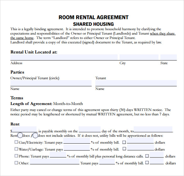 Sample Home Rental Agreement   Documents In Pdf