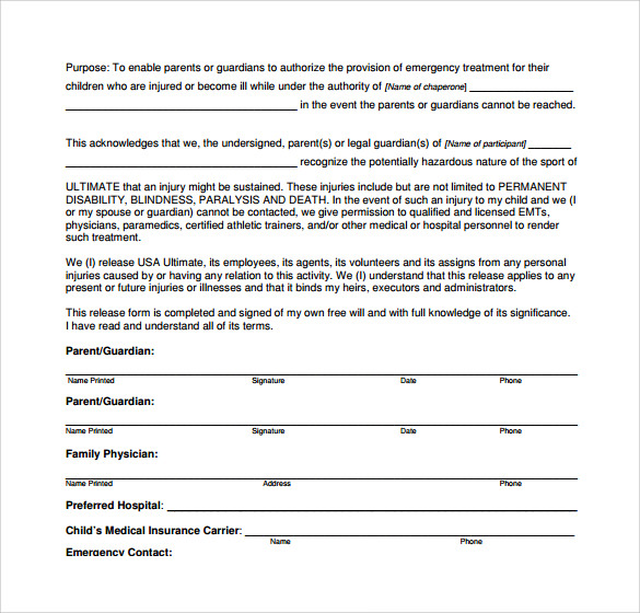 Medical Authorization Form  BesikEightyCo