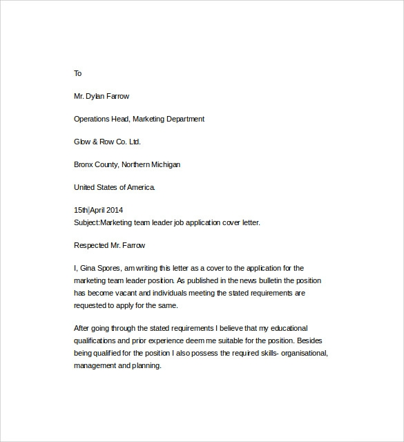 8+ Resume Cover Letter Templates | Sample Templates