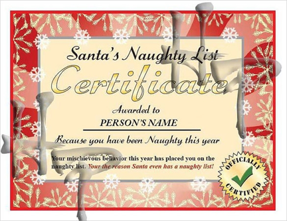 8+ Funny Certificates Templates | Sample Templates