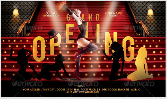 Grand Opening Flyer Template Word  BesikEightyCo