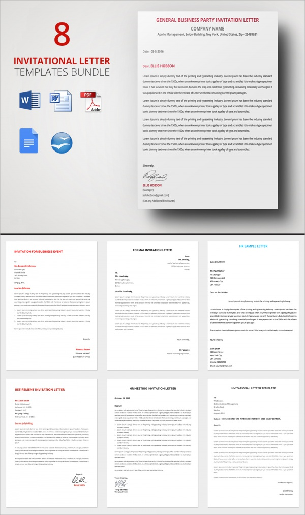 Sample Invitation Letter 17 Download Free Documents In PDF Word – Sample Party Invitation Letter
